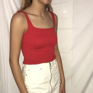 Free People Red Tank